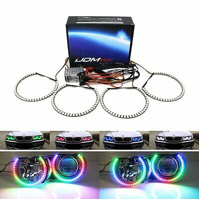 $159.99 • Buy RGBW Color LED Angel Eyes Halo Rings For BMW E46 3Series, 07-14 Silverado Sierra