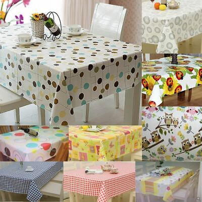£7.59 • Buy Large Wipe Clean PVC Vinyl Tablecloth Dining Kitchen Table Cover Protector Sheet
