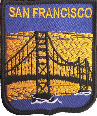 United States Of America USA San Francisco Golden Gate Bridge Embroidered Patch • 4.50£