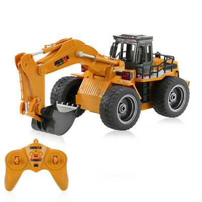 Die Cast RC Excavator Digger 1:18 2.4GHz 6 Channel Remote Control Truck Toy • 17.39£