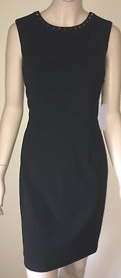$ CDN40.45 • Buy NWT IVANKA TRUMP Black Sheath Dress Size 8 Studded Neckline Sleeveless