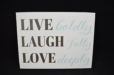 Live Boldly Laugh Fully Love Inspirational Canvas Wall Art Picture 8x6 #15 • 9.92£