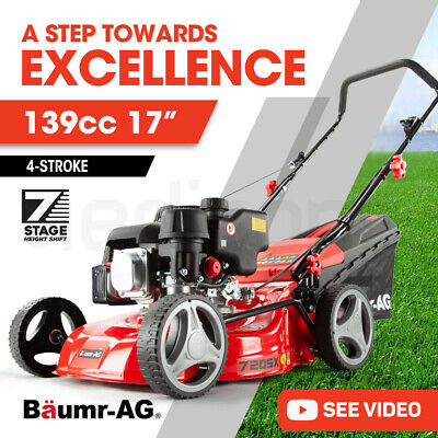 AU276 • Buy 【EXTRA15%OFF】BAUMR-AG 17  Lawn Mower 139cc 4-Stroke Petrol Lawnmower Steel
