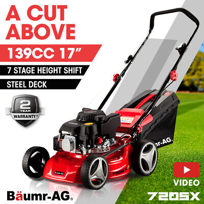 AU269 • Buy PRESALE 17  Lawn Mower 139cc 4-Stroke Petrol Lawnmower Steel Push Engine