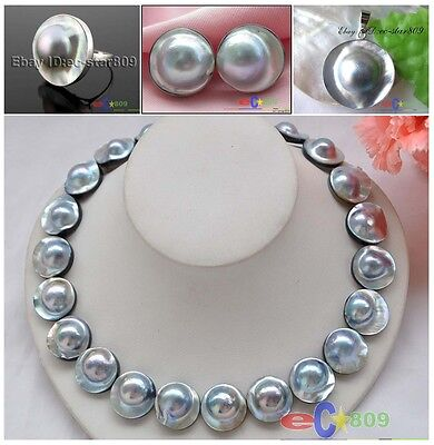 $55 • Buy D0201 20mm  Southsea Mabe Pearl NECKLACE EARRING RING Pendant Sterling Silver
