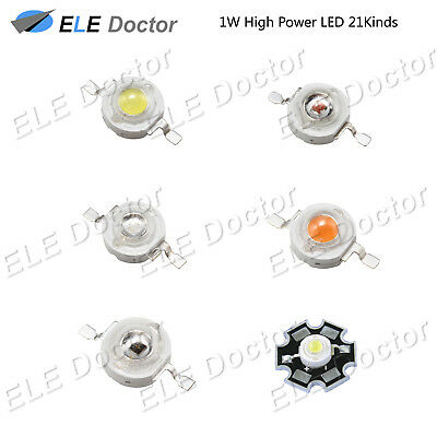 AU2.21 • Buy 1W Watts High Power SMD COB LED Chip Lights Beads White Red Yellow RGB With PCB