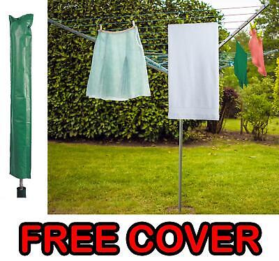 £39.95 • Buy 4 Arm 50M Rotary Outdoor Washing Line Airer Clothes Dryer + Free Cover & Spike