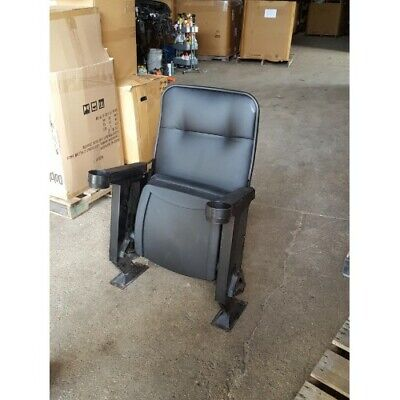 Lot 40 Used HOME THEATER SEATING Real Cinema Movie Chairs Chairs Black Leatheret • 108.75£