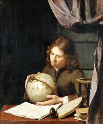 A Young Astronomer Celestial Globe 1685 Painting By Olivier Van Deuren Repro • 74$