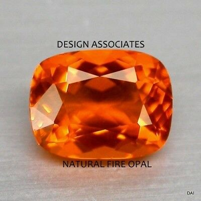 £10.57 • Buy MEXICAN FIRE OPAL 8 X 6 MM CUSHION CUT ALL NATURAL BEAUTIFUL COLOR