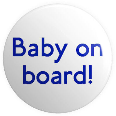 Baby On Board! BUTTON PIN BADGE 25mm 1 INCH Pregnant London Tube Font Mother • 0.99£