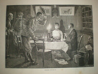 Intruders R Caton Woodville 1881 Old Print • 8.99£