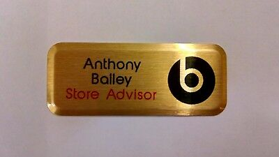 £3.25 • Buy Name Badges-Full Colour Personalised-ID/Staff/Corporate-Magnetic Or Pin Fixing