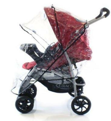 Rain Cover To Fit Graco Mirage Plus Travel System (Black ZigZag) • 12.95£