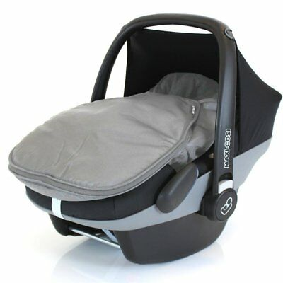 £19.95 • Buy New Footmuff For Maxi Cosi Cabrio Pebble Carseat Universal Grey Fleece Lined