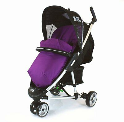 £19.95 • Buy New Plum Padded Footmuff & Liner To Fit Quinny Zapp Petite Star Zia Obaby Zoma