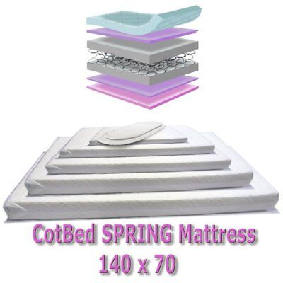 Deluxe Spring Mattress To Fit Cosatto Hogarth Cotbed 141 X 69 • 62.32£