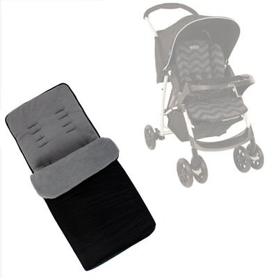 Buddy Jet Foot Muff Grey Suitable For Graco Mirage Plus Travel System (Black Zig • 11.95£