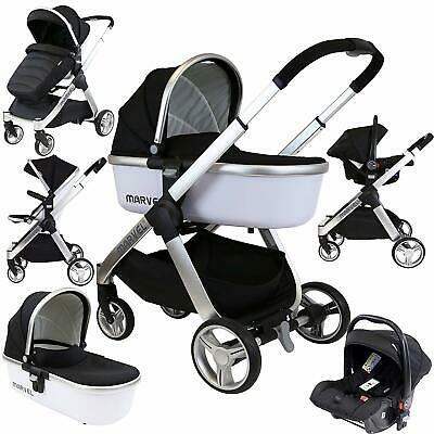 SALE!!! ISafe Marvel 3 In 1 Pram - Travel System (With Car Seat & Carrycot) • 499.95£