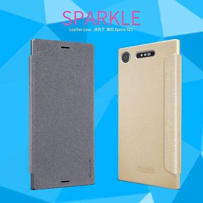 AU10.35 • Buy For Sony Xperia XZ1 /Compact /M5 Nillkin Sparkle Flip Thin PU Leather Case Cover