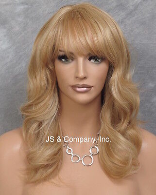 $85.45 • Buy Human Hair Blend Wig HEAT SAFE Soft Wavy Layered Feathered Blonde Mix ST 27-613