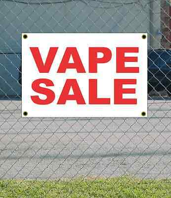 AU20.38 • Buy 2x3 VAPE SALE Red & White Banner Sign NEW Discount Size & Price FREE SHIP
