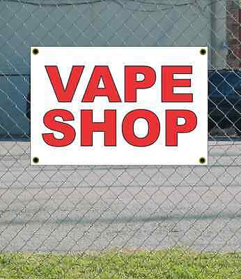 AU20.38 • Buy 2x3 VAPE SHOP Red & White Banner Sign NEW Discount Size & Price FREE SHIP