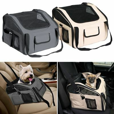 New Luxury Car Seat & Carrier Cat Small Dog Pet Puppy Travel Cage Booster • 17.95£