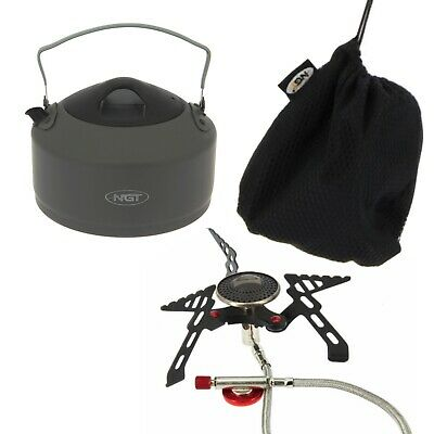Fishing Stove And Kettle 1.1 Litre For Camping Hiking Travel Folding Handle • 32.62£