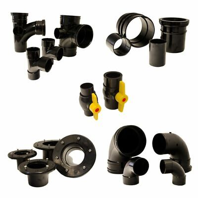 Solvent Weld Pond Pipe Fittings Connector Koi Pipework Filter Pressure Join • 17.99£