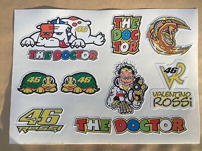 THE DOCTOR 46 VALENTINO ROSSI.  9 Stickers On An A5 Sheet • 3.75£
