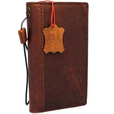AU38.73 • Buy Genuine Vintae Leather Case For LG V30 Book Cards Wallet Slim Cover Brown Thin