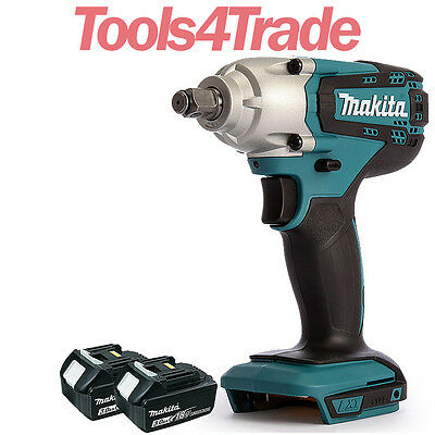 Makita DTW190Z 18V LXT Cordless 1/2  Impact Wrench With 2 X 3Ah BL1830 Batteries • 159£