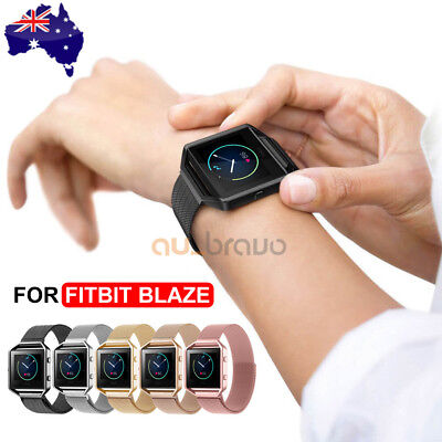 AU13.95 • Buy Milanese Stainless Steel Magnetic Loop Wrist Band Strap + Frame For Fitbit Blaze