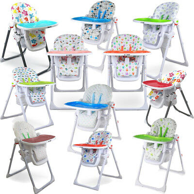 ISafe Foldable Baby High Chair Recline Highchair Height Adjustable Feeding Seat  • 59.95£