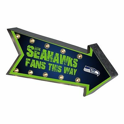 Seattle Seahawks Arrow Marquee Sign - Light Up - Room Bar Decor NEW 18   • 29.65$