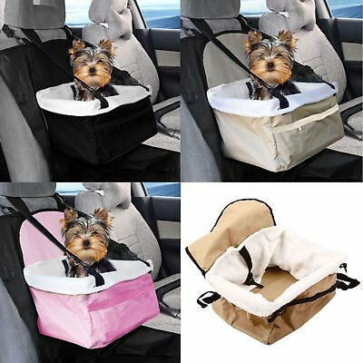 Travel Folding Dog Cat Pet Puppy Car Carrier Booster Seat Safety Bag Belt Cover • 9.95£