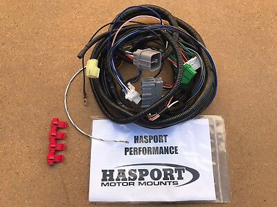 hasport k swap adaptor wire harness 92-95 honda civic 94-01 acura integra