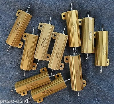 $3.40 • Buy Aluminum Precision 10, 25 And 50 Watt Wire Wound Resistors - NEW And Refurbished