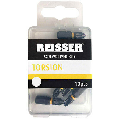 Reisser Torsion Screwdriver Bits - 10 Pack Pozi Or Torx • 9.66£