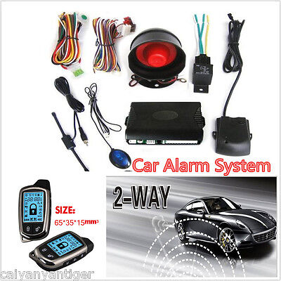 $ CDN87.91 • Buy 2 Way Car Alarm Security System With LCD Long Distance Controlers Anti- Theft