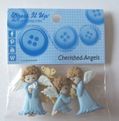 £2.50 • Buy Cute Dress It Up Buttons Cherished Angels  Crafts Knitting Scrap Booking