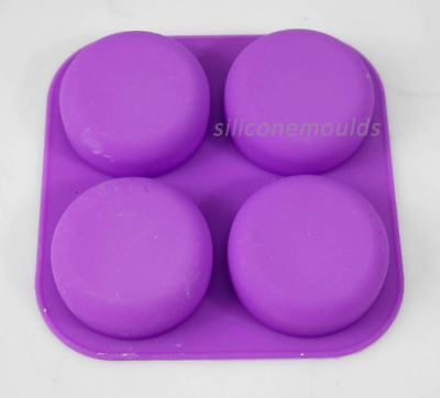 4 Cell ROUND Pebble Stone Silicone Bath Soap Mould Tray - Makes 90g Bars 10-008 • 7.25£