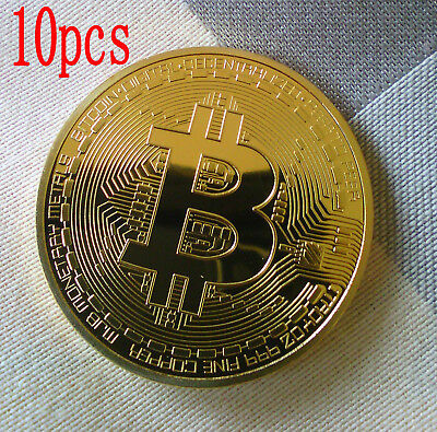 AU12.99 • Buy 10PCS Gold Plated Bitcoin Coin Collectible Gift BTC Coin Art Collection Physical