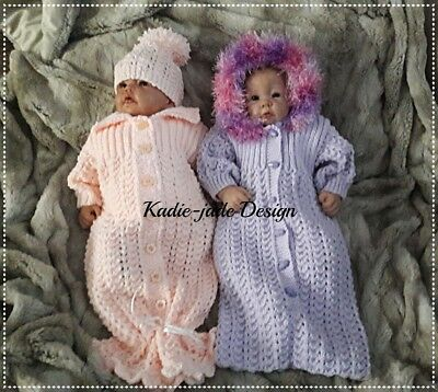 Knitting Pattern #49 - Collared & Hooded Baby Nest & Hat • 5.40£
