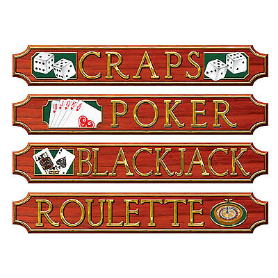 $6.99 • Buy Casino Sign Wall Plaque