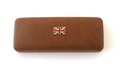 Union Jack Leather Effect PU Glasses Case British Gift Present 383 • 14.99£