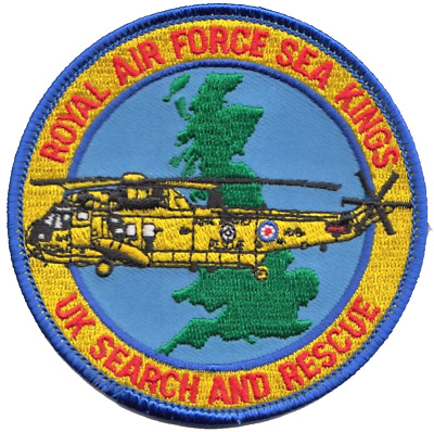 £12.50 • Buy Royal Air Force RAF Search And Rescue SAR Sea Kings MOD Embroidered Patch