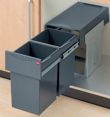 Hafele Hailo Tandem 30L Pull Out Kitchen Recycling Waste Bin To Fit 300mm Unit • 116.99£