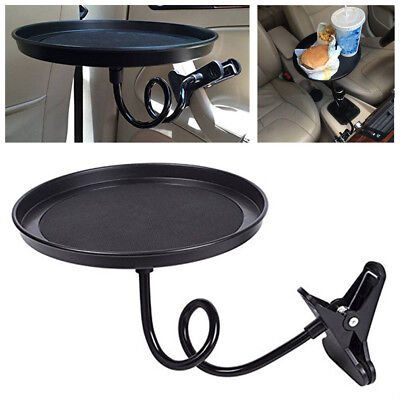 $14.89 • Buy 360° Car Swivel Mount Holder Travel Drink Cup Coffee Table Stand Food Tray Black